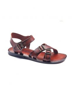cross strapped leather sandals for men 2 1 247x296 - Cross Strapped Leather Sandals For Men