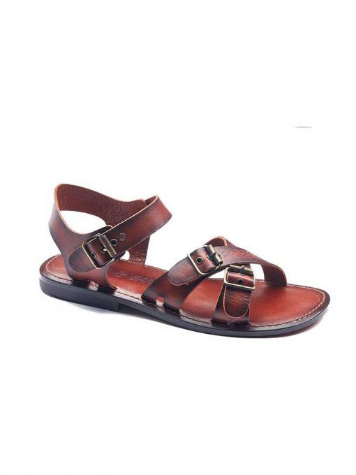 cross strapped leather sandals for men 2 1 510x680 - Cross Strapped Leather Sandals For Men