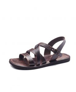 embossed leather sandals for men 1 247x296 - Embossed Leather Sandals For Men