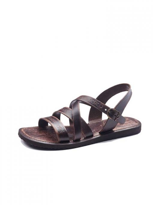 embossed leather sandals for men 1 510x680 - Embossed Leather Sandals For Men