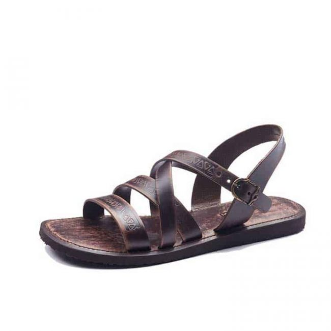 embossed leather sandals for men 1 650x650 - Mens Leather Sandals Embossed