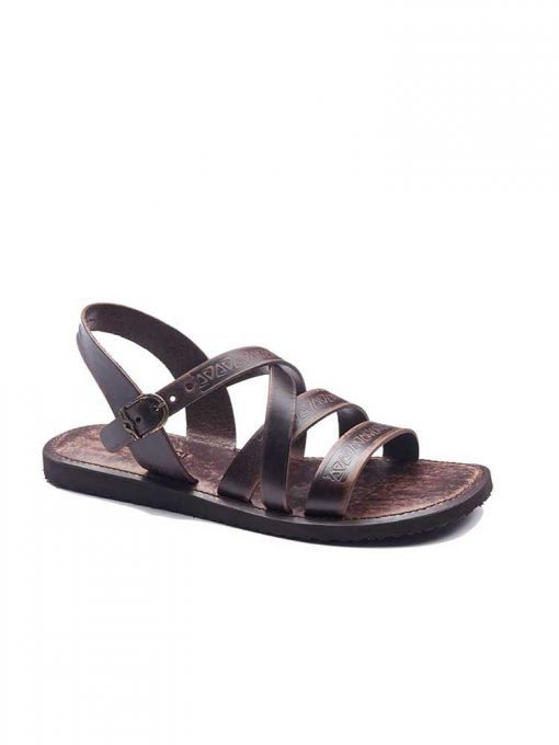 embossed leather sandals for men 2 510x680 - Embossed Leather Sandals For Men
