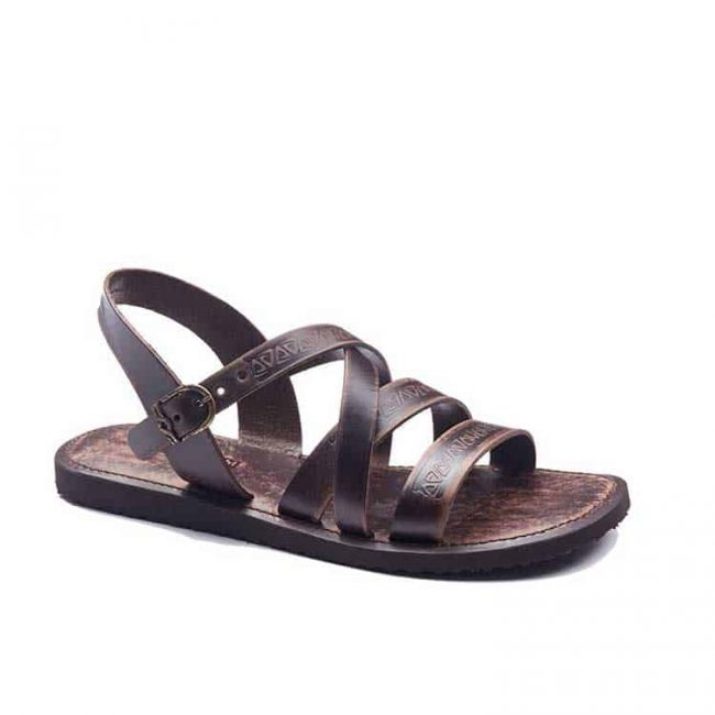 embossed leather sandals for men 2 650x650 - Mens Leather Sandals Embossed