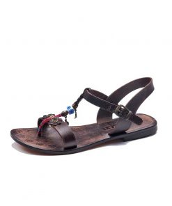 embossed-toe-thong-brown-sandals