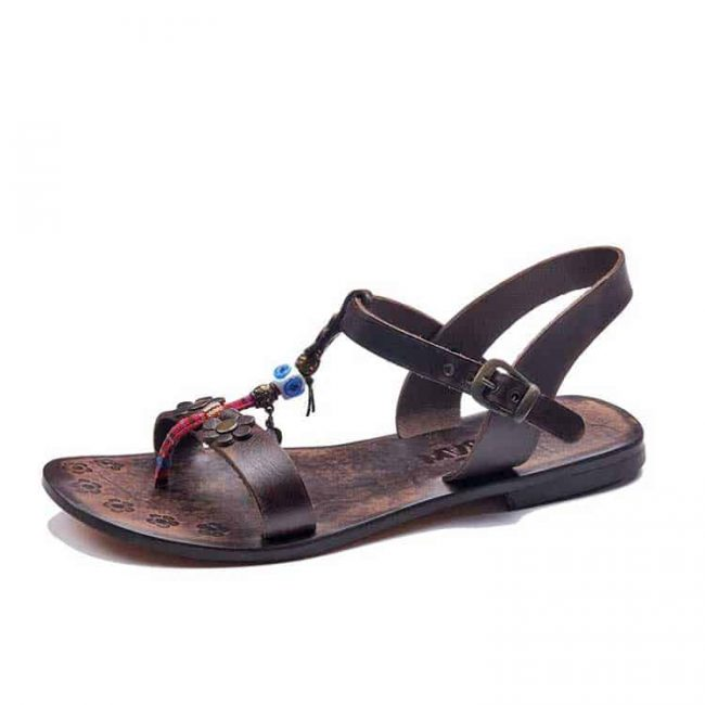 embossed-toe-thong-brown-sandals