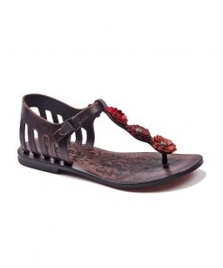 flowers metallic detail sandals 1 247x296 - Flowers Metallic Detail Sandals