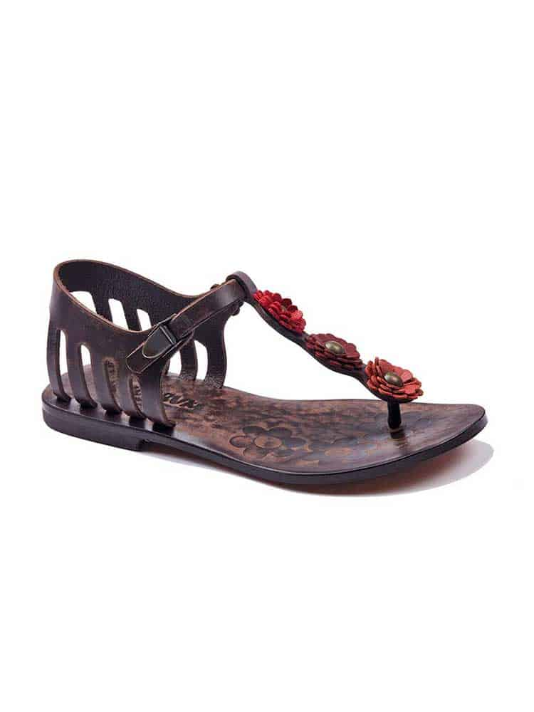 43cfe12d492c Flowers Metallic Detail Sandals