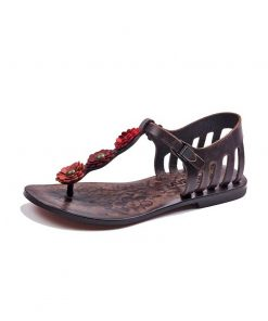 flowers metallic detail sandals 2 247x296 - Flowers Metallic Detail Sandals