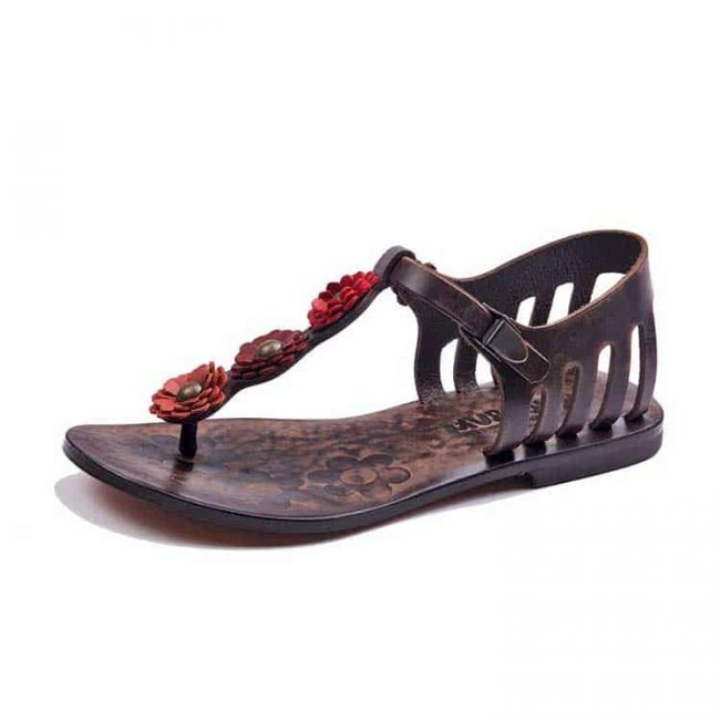 flowers metallic detail sandals 2 650x650 - Flowers Metallic Detail Sandals