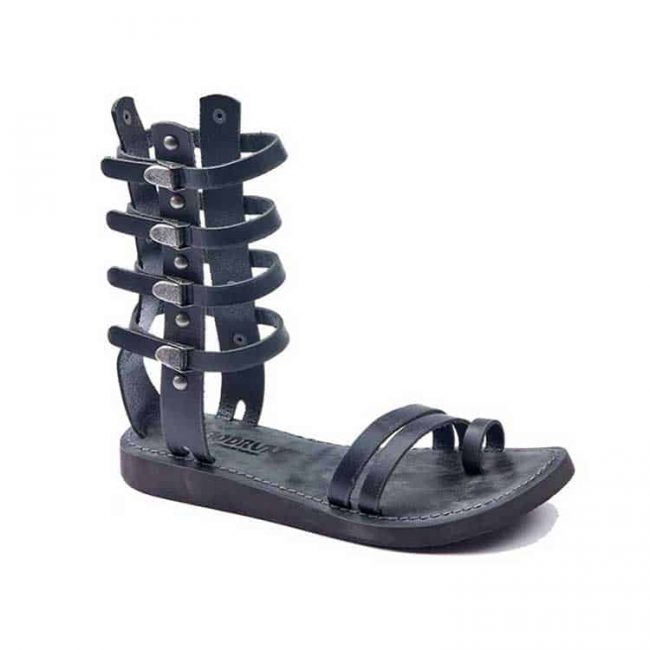 full strapped gladiator sandals 2 650x650 - Full Strapped Leather Gladiator Sandals