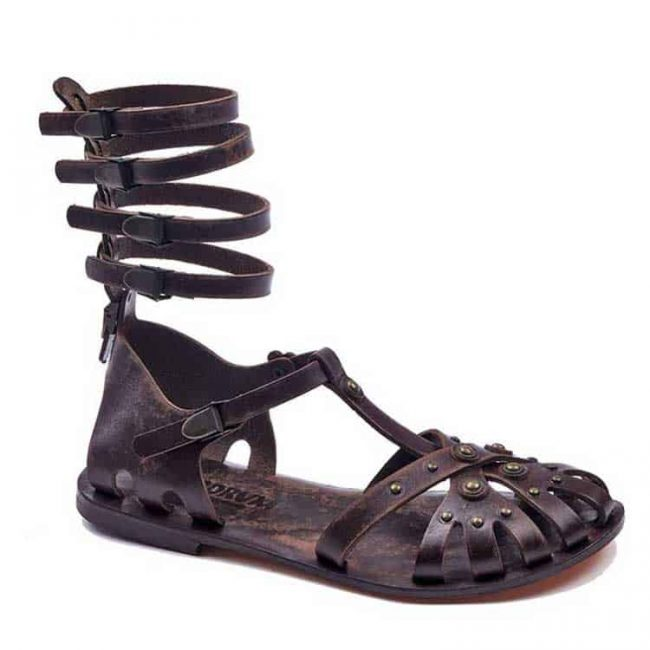 gladiator sandals evaterm sag 2009 650x650 - Metallic And Strapped Gladiator Sandals