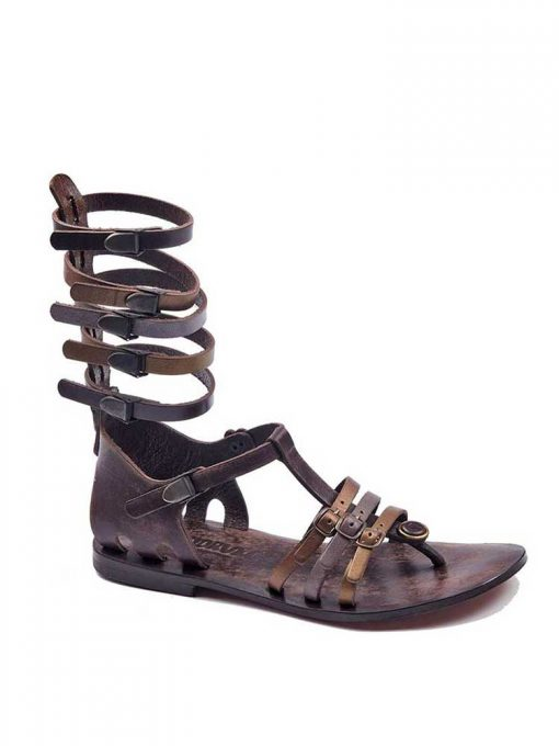 gladiator sandals evaterm sag 2014 510x680 - Colored Strapped Gladiator Sandals