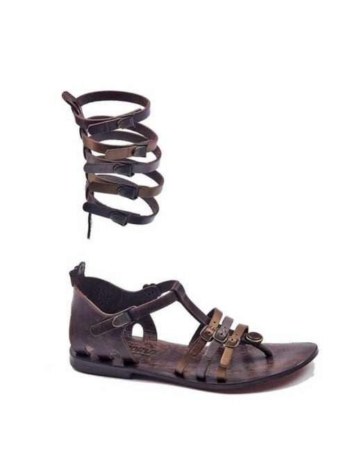 gladiator sandals evaterm sag 2015 510x680 - Colored Strapped Gladiator Sandals