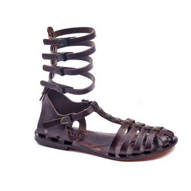 gladiator sandals evaterm sag 2026 650x650 - Metallic Gladiator Leather Sandals