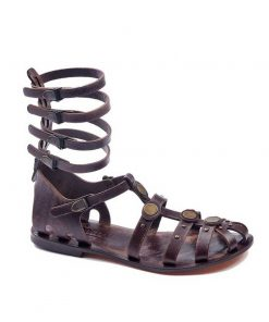 gladiator sandals evaterm sag 2028 247x296 - Leather Strapped Gladiator Sandals