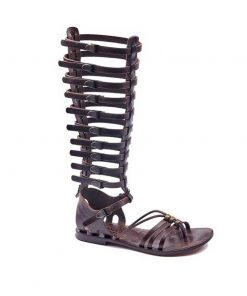 gladiator sandals evaterm sag 2030 247x296 - Metallic Toe Thong Brown Gladiator Sandals