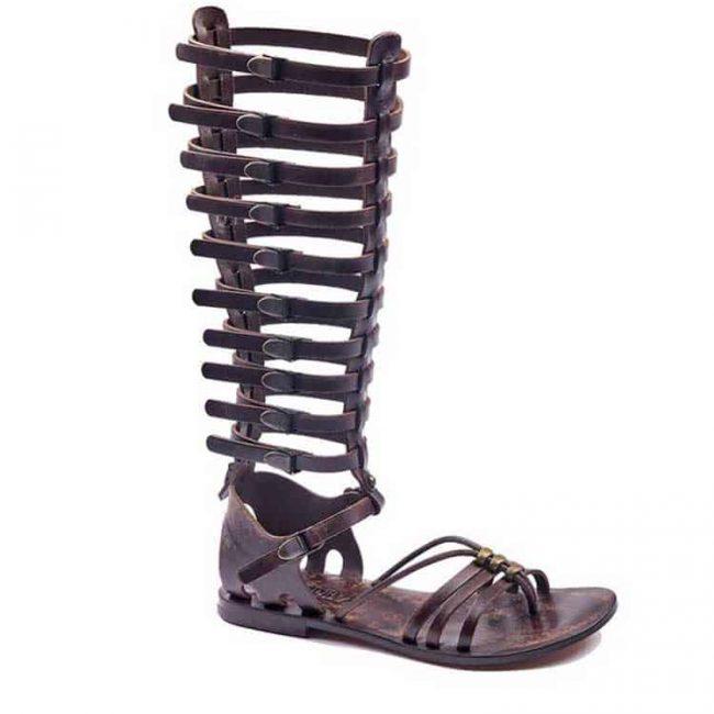 gladiator sandals evaterm sag 2030 650x650 - Metallic Toe Thong Brown Gladiator Sandals