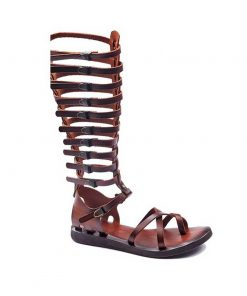 gladiator sandals evaterm sag 2034 247x296 - Strapped Toe Thong Gladiator Sandals