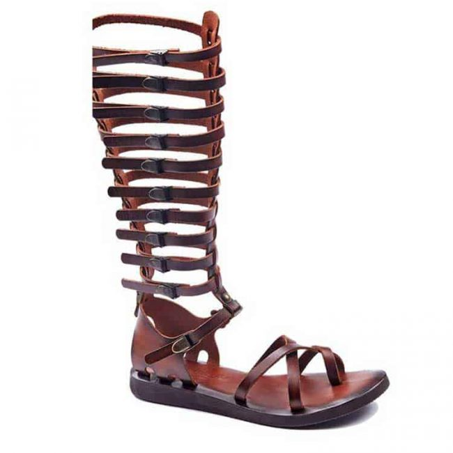 gladiator sandals evaterm sag 2034 650x650 - Strapped Toe Thong Gladiator Sandals