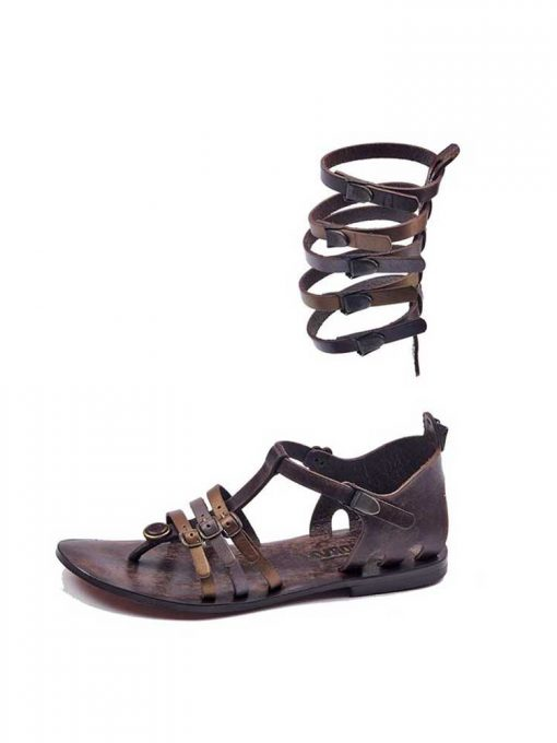 gladiator sandals evaterm sol 2015 510x680 - Colored Strapped Gladiator Sandals