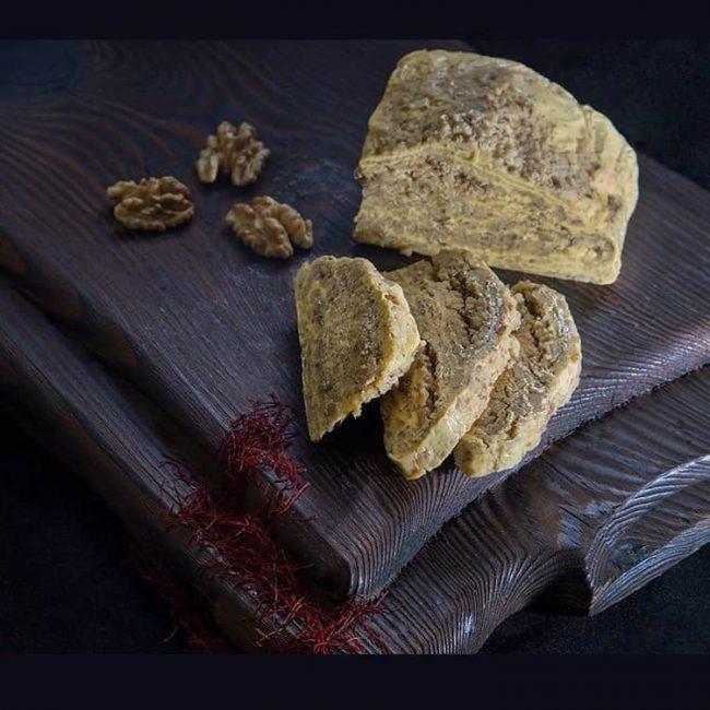 halwa-with-saffron-walnut-flavor