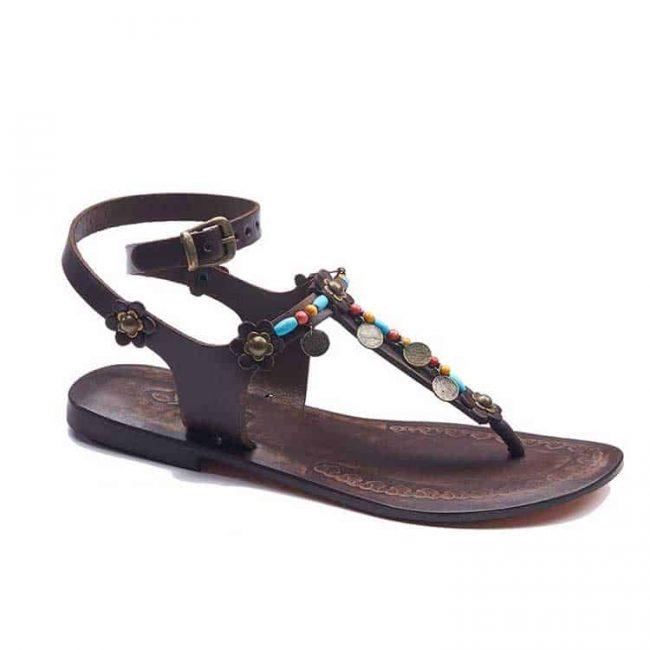 metallic blue detail sandals women 1 650x650 - Metallic Blue Detail Sandals