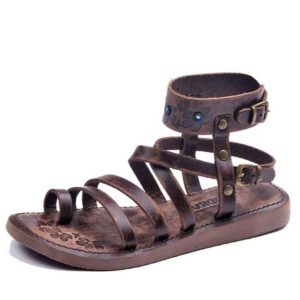 metallic-brown-gladiator-sandals