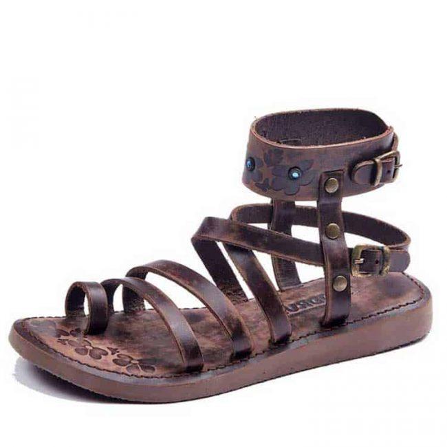 metallic-brown-gladiator-sandals