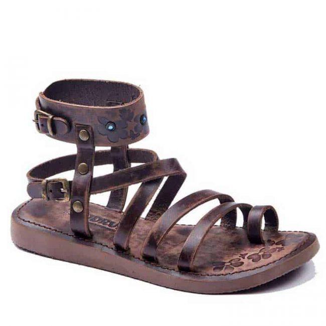 metallic brown gladiator sandals 2 650x650 - Metallic Brown Leather Gladiator Sandals