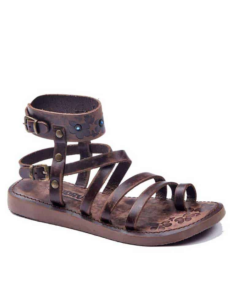 Metallic Brown Gladiator Sandals