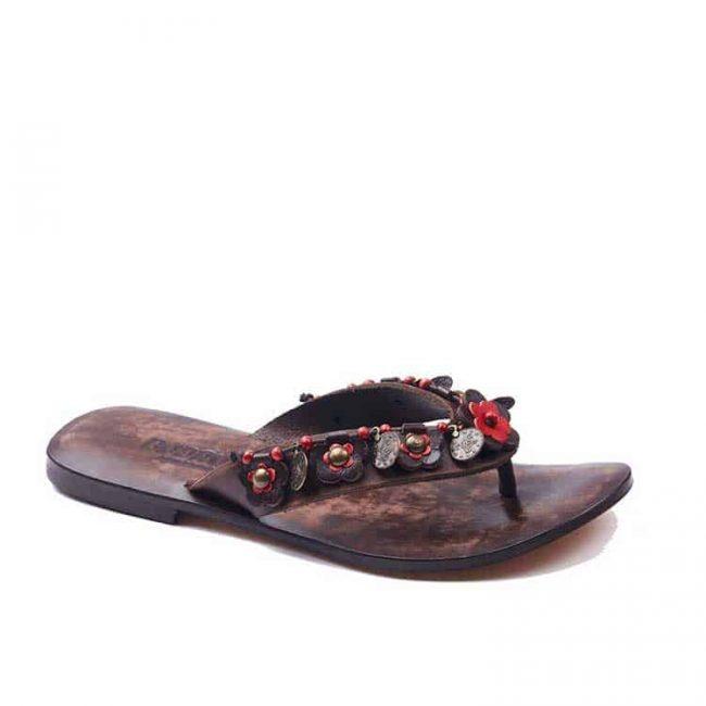 red flowers flip flops 2 650x650 - Evil Eye Detailed Flip Flops Leather Sandals