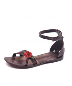 rose-leather-sandals