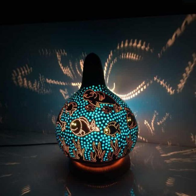 sea-theme-gourd-lamp-patterns