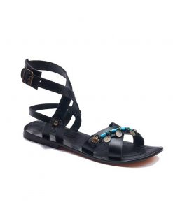 strapped leather bodrum sandals women 1 247x296 - Strapped Leather Bodrum Sandals