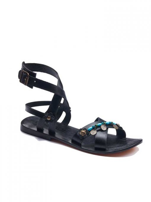 strapped leather bodrum sandals women 1 510x680 - Strapped Leather Bodrum Sandals