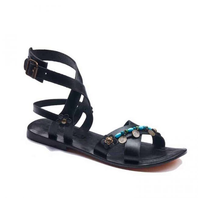 strapped leather bodrum sandals women 1 650x650 - Strapped Leather Bodrum Sandals