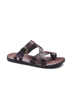 toe thong brown leather flip flops for men 2 1 247x296 - Toe Thong Brown Leather Flip Flops For Men