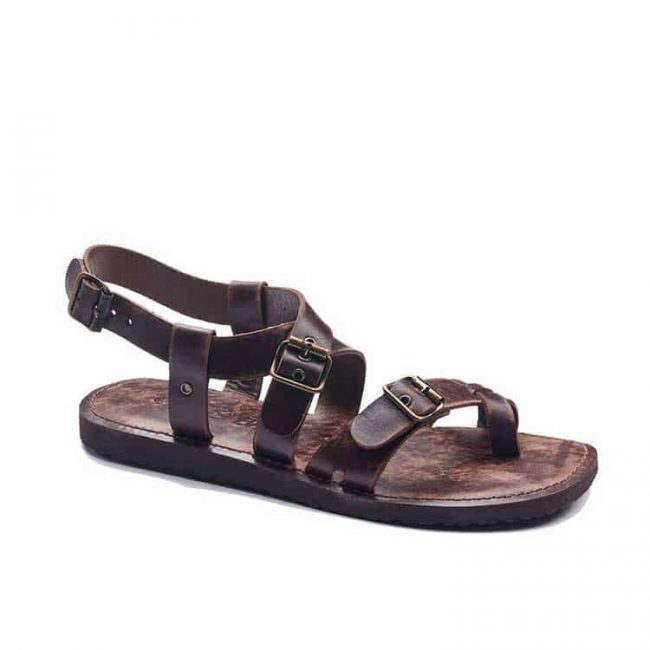 toe thong buckle leather sandals for men 2 650x650 - Toe Thong Buckle Leather Sandals For Men