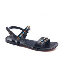 tugra blue beaded sandals women 1 247x296 - Tugra Blue Beaded Sandals