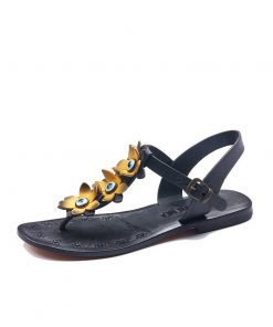 turkeyfamousfor bodrum sandals left 129 1961 247x296 - Yellow Flowers Leather Sandals