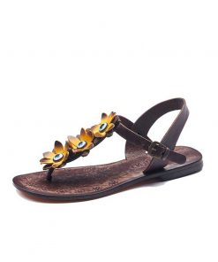 turkeyfamousfor bodrum sandals left 129 1962 247x296 - Yellow Flowers Leather Sandals
