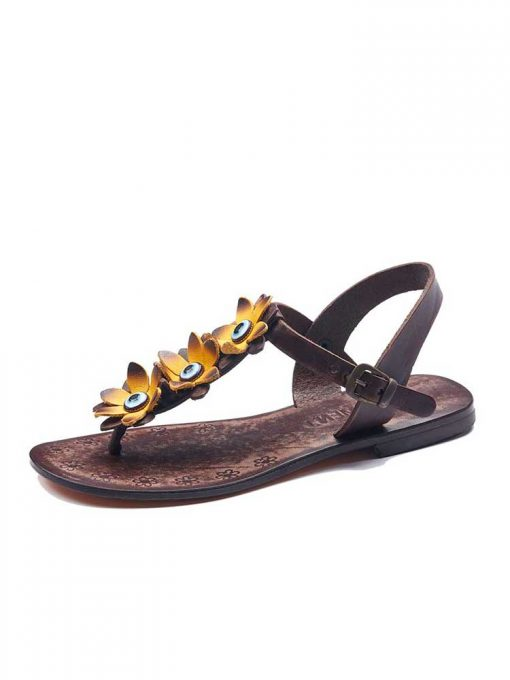 turkeyfamousfor bodrum sandals left 129 1962 510x680 - Yellow Flowers Leather Sandals