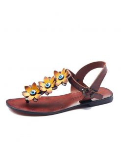 turkeyfamousfor bodrum sandals left sol 129 1905 247x296 - Yellow Flowers Leather Sandals