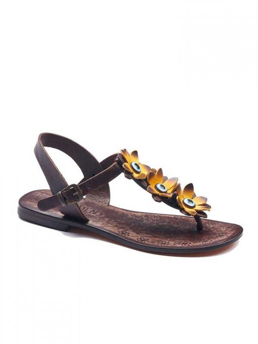 turkeyfamousfor bodrum sandals right 129 1962 510x680 - Yellow Flowers Leather Sandals