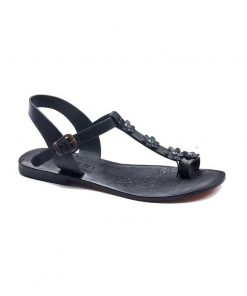 turkeyfamousfor bodrum sandals right 330 1897 247x296 - Flower Strapped Black Sandals