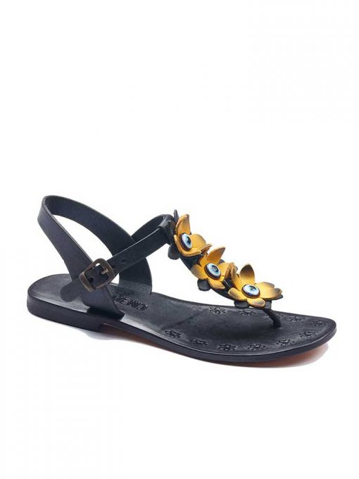 turkeyfamousfor bodrum sandals right sag 129 1961 510x680 - Yellow Flowers Leather Sandals