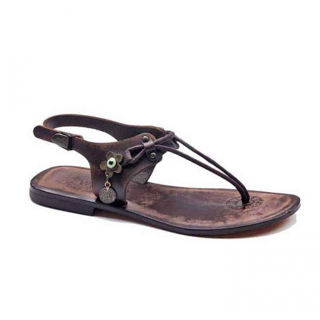 turkeyfamousfor handmade bodrum sandals right 221 1892 650x650 - Leather Strapped Brown Sandals