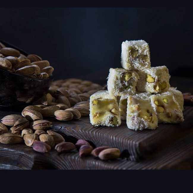 turkish delight pistachio saffron flavor 2 1 650x650 - Turkish Delight Pistachio Saffron Flavor