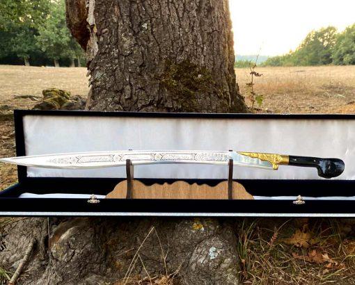 yatagan sword turkish kilij 3 510x410 - Brass Yataghan Sword