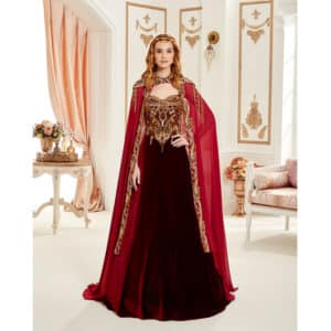 Bridal Red Kaftan Set